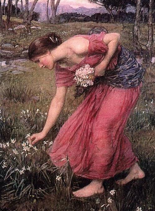 نقاشی زن در مزرعه ، نارسیسوس