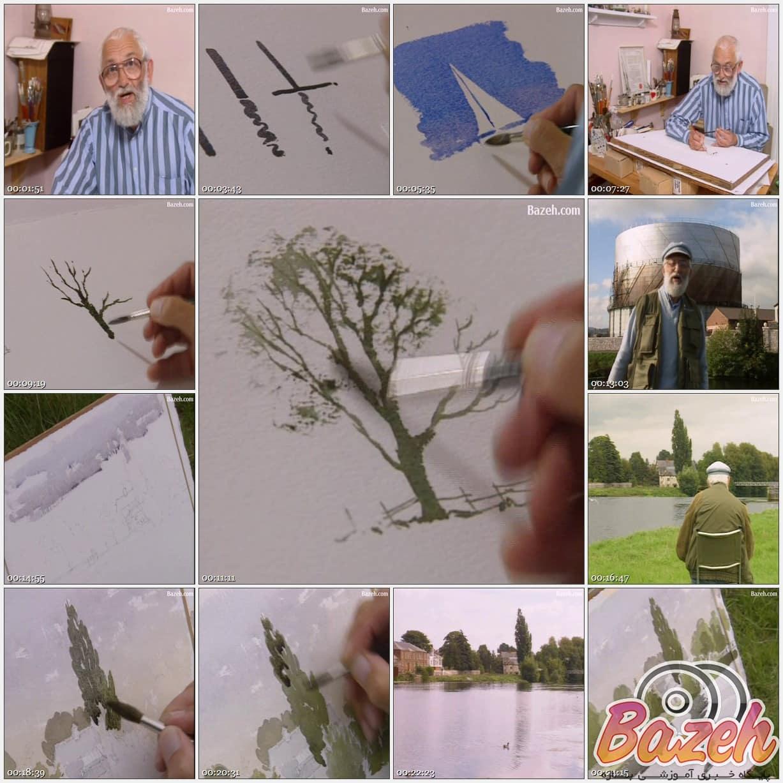 آموزش نقاشی آبرنگ با آلوین کراشو