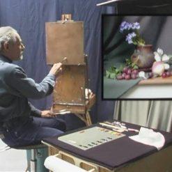نقاشی میوه و گل با رنگ روغن