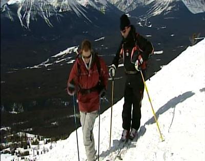آموزش اسکی روی برف