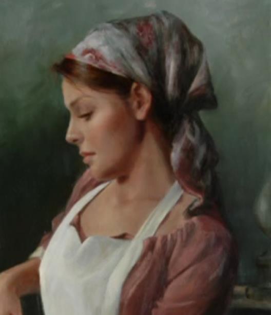 نقاشی زن خدمتکار سارا از لیلیه دال
