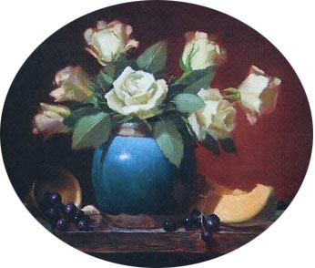 نقاشی گل و گلدان ای پروتیت