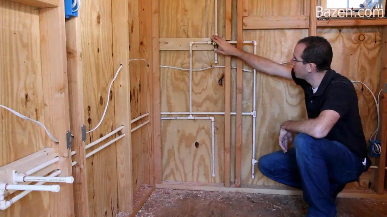 ساخت خانه چوبی بر روی تریلر (لوله کشی)